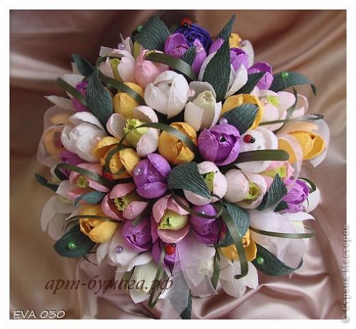 Эту работу я делала на заказ, по приблизительным подсчетам получилось около 60 цветочков, крокусы и подснежники. фото 1