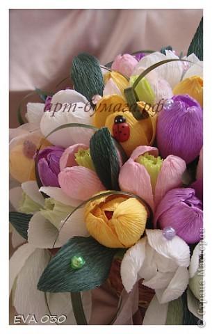 Эту работу я делала на заказ, по приблизительным подсчетам получилось около 60 цветочков, крокусы и подснежники. фото 3