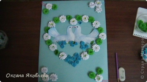 Увидев эту картинку, у меня родилась идея сделать таких голубей на свадьбу))) фото 6