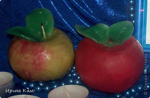 Свечки-яблочки для Яблочного конкурса фото 2