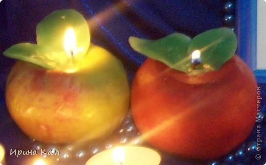 Свечки-яблочки для Яблочного конкурса фото 1