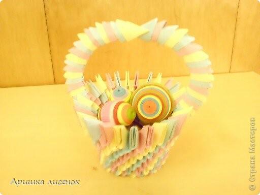 Корзина с пасхальными яйцами фото 1