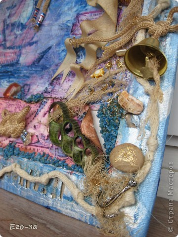 А не замахнуться ли нам на мужскую, более того, морскую тематику? Крючки, ракушки, камни - всё настоящее. фото 1