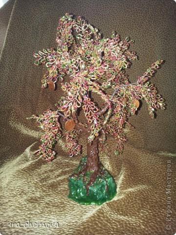 Еще одно денежное дерево осеннее, высота 35 см с подставочкой, высота подставки- 4 см, материал- рубка. фото 2