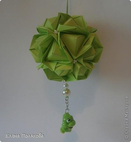Вот и мои кусудамки Марии Синайской из серии Little Unit  и один зеленый Clover фото 9