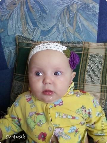 Моя первая повязка для моей доченьки фото 1