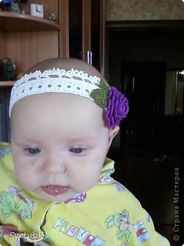 Моя первая повязка для моей доченьки фото 2