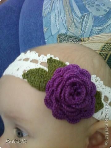 Моя первая повязка для моей доченьки фото 3