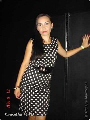 платье в горох) немного полнит, но все же классика жанра) фото 1