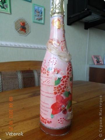 Эту бутылочку я сделала на юбилей. фото 4