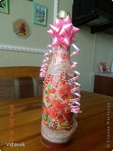 Эту бутылочку я сделала на юбилей. фото 5