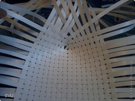 Корзинка из упаковочной (полипропиленовой, стреппинг) ленты на 7-8 литров. фото 5
