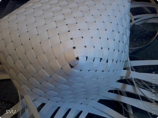 Мастер-класс Плетение Плетение корзинки из упаковочной полипропиленовой стреппинг ленты Полиэтилен фото 11