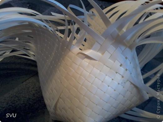 Мастер-класс Плетение Плетение корзинки из упаковочной полипропиленовой стреппинг ленты Полиэтилен фото 17