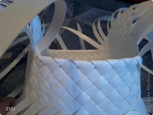 Мастер-класс Плетение Плетение корзинки из упаковочной полипропиленовой стреппинг ленты Полиэтилен фото 20