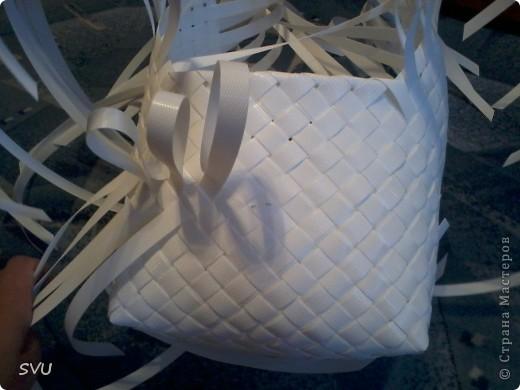 Мастер-класс Плетение Плетение корзинки из упаковочной полипропиленовой стреппинг ленты Полиэтилен фото 23
