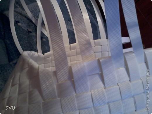 Мастер-класс Плетение Плетение корзинки из упаковочной полипропиленовой стреппинг ленты Полиэтилен фото 32
