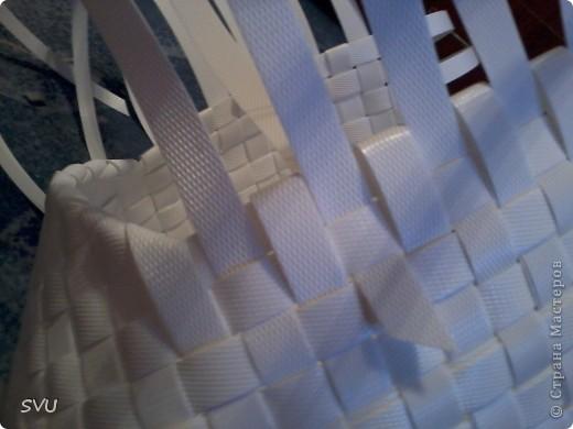 Мастер-класс Плетение Плетение корзинки из упаковочной полипропиленовой стреппинг ленты Полиэтилен фото 33