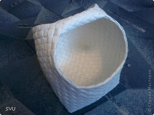 Мастер-класс Плетение Плетение корзинки из упаковочной полипропиленовой стреппинг ленты Полиэтилен фото 45