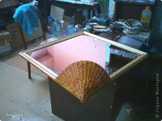 обычное шестиугольное зеркало обрело новую рамку. фото 5