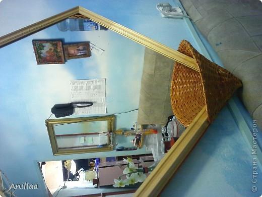 обычное шестиугольное зеркало обрело новую рамку. фото 2
