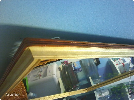 обычное шестиугольное зеркало обрело новую рамку. фото 4