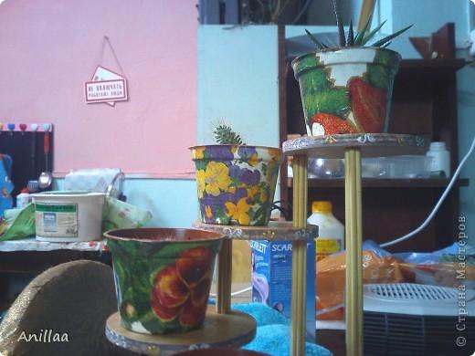 Мини-стоечка под кактусики. фото 4