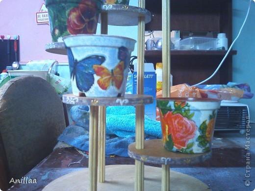 Мини-стоечка под кактусики. фото 5