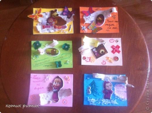 """Карточки АТС """"Маша и медведь"""" фото 1"""