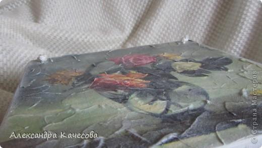 Вот выкладываю фото очередного панно.Рельефная паста,салфетка,подрисовка фона. фото 3