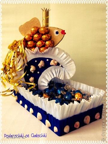 Здравствуйте уважаемые жители СМ!!! Сделала рыбку в подарок шефу на день рождение. Хочу выразить благодарность за идею morskay6363 http://stranamasterov.ru/node/245062. Можно назвать это повторюшкой!))))))))))) фото 1