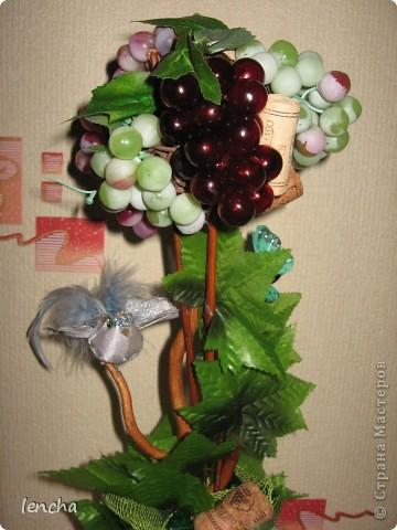 Здравствуйте, мои дорогие жители Страны мастеров!!! Я сегодня к вам со своей новинкой-повторюшкой ;)) Снова виноградный топиарий фото 3