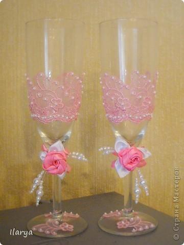 Декор предметов Свадьба Шитьё Wedding Hand-made комплекты Бисер Бусинки Клей Кружево Ленты фото 11.