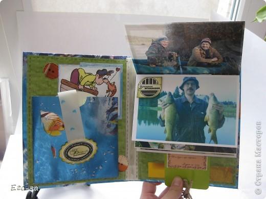 Подарок для рыбака. Сетка - обёртка от букета. Фон - обои голографические. фото 3