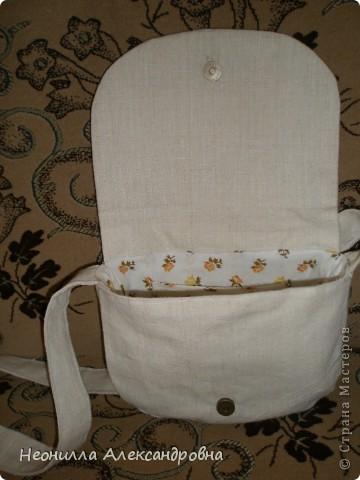 Летняя сумочка из льна фото 2