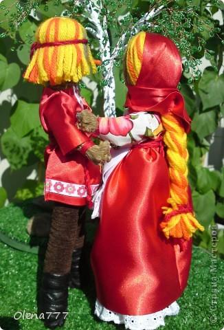 Доброго дня и ночи Страна Мастеров! Эта пара неразлучников гибких сделана по подробнейшему МК чудесной мастерицы обереговых кукол Aristova-Jacquemin Lydia вот ссылка http://stranamasterov.ru/node/246478 фото 4