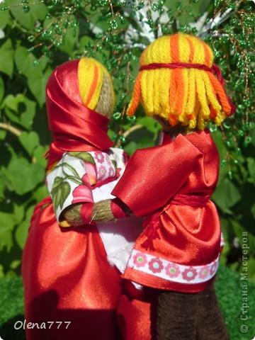 Доброго дня и ночи Страна Мастеров! Эта пара неразлучников гибких сделана по подробнейшему МК чудесной мастерицы обереговых кукол Aristova-Jacquemin Lydia вот ссылка http://stranamasterov.ru/node/246478 фото 8