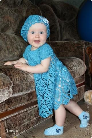 Для меня праздником, когда невероятно приятно дарить подарки, стало рождение у друзей доченьки! Связала для юной красавицы вот такую шапочку (МК есть у меня в блоге https://stranamasterov.ru/node/147235) фото 10