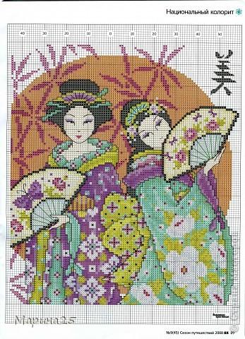 Японки крестиком | Страна Мастеров: http://stranamasterov.ru/node/388445