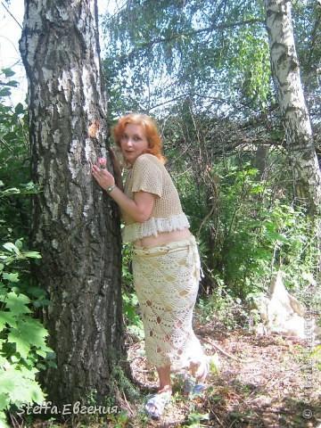 """Ураа!Вот и я закончила свою юбочку))С ней и осмелюсь поучаствовать в конкурсе """"Презент от Голубки"""".Огромное спасибо Ирине за этот конкурс!)) фото 2"""