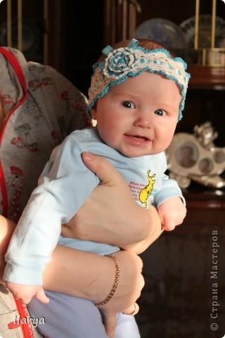 Для меня праздником, когда невероятно приятно дарить подарки, стало рождение у друзей доченьки! Связала для юной красавицы вот такую шапочку (МК есть у меня в блоге https://stranamasterov.ru/node/147235) фото 5