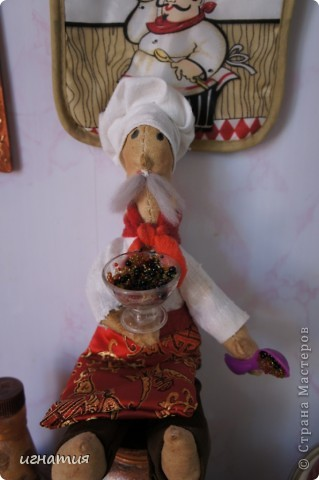вот такого  кофейного-повара я пошила себе в кухню к моим поворятам:)))))))))) фото 1