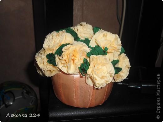 Крёстная попросила сделать именно такой:маленькая основа и большие цветы! фото 1