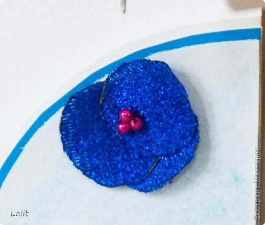 Отрктытка-кармашек для сертификата в подарок подруге на ДР. Фон раксрашивала сама на акварельной бумаге, листики - изонить, цветочки сделала из из ленты. фото 3