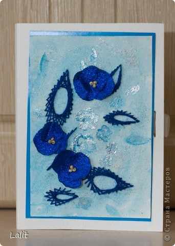 Отрктытка-кармашек для сертификата в подарок подруге на ДР. Фон раксрашивала сама на акварельной бумаге, листики - изонить, цветочки сделала из из ленты. фото 1