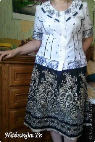 Попался в магазине очень удачный материал и сразу появилась идея,вот так к лету у меня сшилась замечательная юбочка из клиньев. фото 4