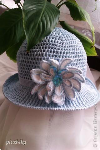 Гардероб Вязание крючком Шляпки-панамки для девочек Пряжа фото 1
