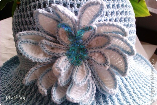 Гардероб Вязание крючком Шляпки-панамки для девочек Пряжа фото 2