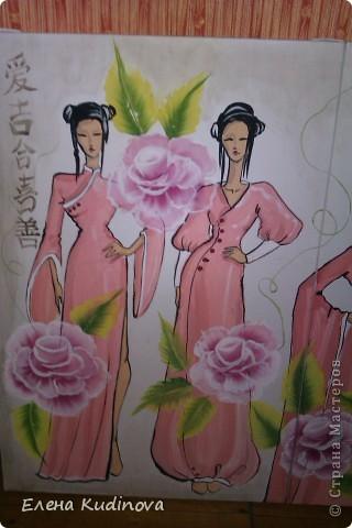 Коллекция костюмов с использованием китайской росписи. Формат 80*120 фото 2