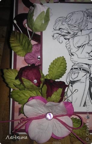 Создалась вот такая открыточка лямуРР.. Пока не придумала куда ее деть, но еще не вечер )))) фото 2